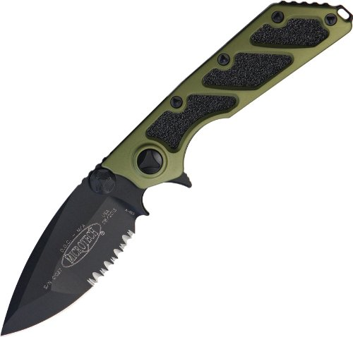 Micro Tech Knives 1532Gr Microtech D.O.C. (Death On Contact) With Od Green Black Blade Partial Serrated