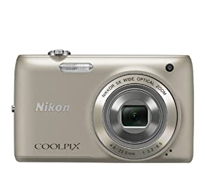 Nikon COOLPIX S4100 14 MP Digital Camera with 5x NIKKOR Wide-Angle Optical Zoom Lens and 3-Inch Touch-Panel LCD (Silver)