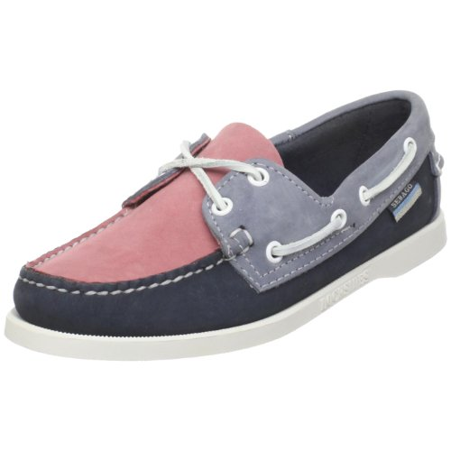 Sebago Men's Spinnaker Boat Shoe,Pink/Navy,10.5