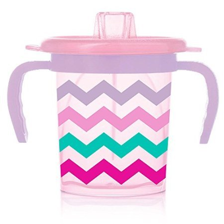 Evenflo Feeding Triple-Flo Tilty Trainer Cup (Pink Chevron) (Tilty Cup compare prices)