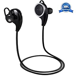 Atill Wireless Bluetooth Headphones V4.1 Sport Stereo In-Ear Headsets, Noise Cancelling Sweatproof Earphones Earbuds with Mic for iPhone 6s, 6, 5s, 5c, 5, Android Phones and Bluetooth-enabled Tablets