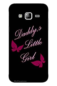 MiiCreations 3D Printed Back Cover for Samsung Galaxy J3,Daddy's Little Girl