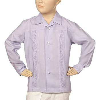 Irish linen long leeve lavender shirt for boys. Final sale