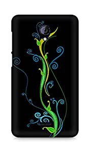 Amez designer printed 3d premium high quality back case cover for Micromax Unite 2 A106 (Abstract Dark 28)