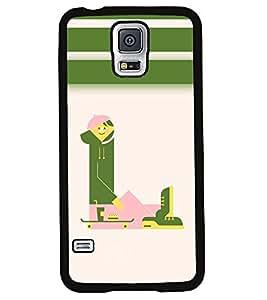 Fuson 2D Printed Alphabet L Designer back case cover for Samsung Galaxy S5 - D4297