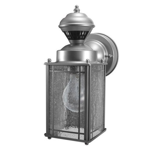 Heath Zenith HZ-4133-SV  Shaker Cove Mission Style 150-Degree Motion Sensing Decorative Security Light, Silver (Mission Outdoor Wall Light compare prices)