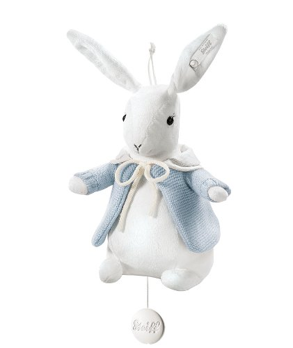 Cheap Steiff 239458 Selection Rabbit Music Box Blue