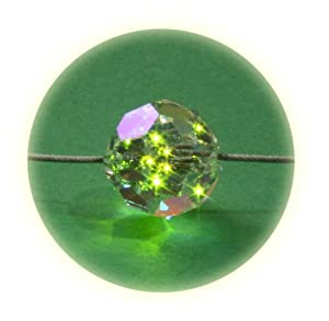 Firejewel LED Crystal Ball Necklace - Green