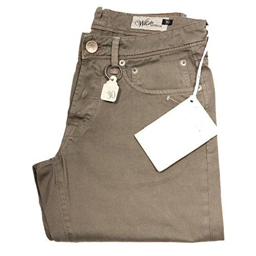 40784 pantaloni SIVIGLIA WHITE jeans uomo trousers men [30]
