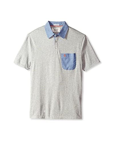Original Penguin Men's GL Chambray Patch Polo
