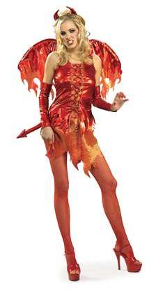 Halloween Fancy Dress Costume – Secret Wishes – Devil on Fire Medium