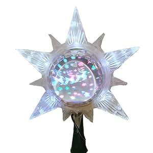Kurt Adler 11-Inch Star Treetop with Revolving Globe