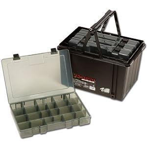 MeihoVersus VS 9030 - Caja con compartimentos para material de pesca