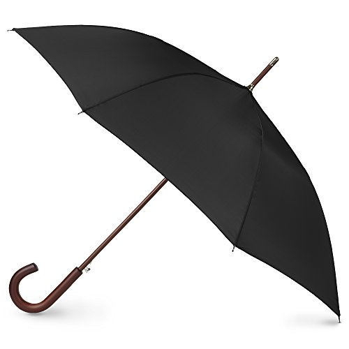 Auto Wooden Black Stick Umbrella