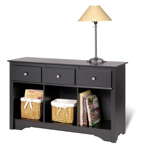 Sonoma Black Finish Sideboard Buffet Console Sofa Table