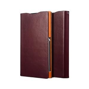Zenus Signature Diary Case/Tasche Wein für Sony Xperia Z1