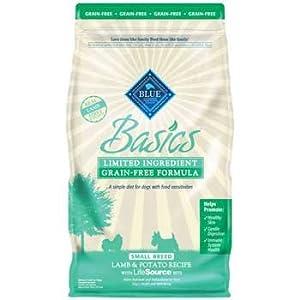 Blue Buffalo Small Breed Basics Limited Ingredient Formula Lamb & Potato Adult Dry Dog Food, 4 lbs.