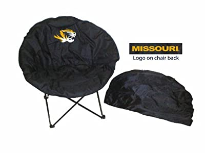 Rivalry Team Logo Design Tailgating Camping Picnics Outdoor Events Missouri Round Chair