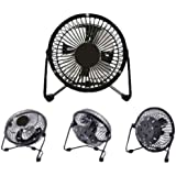 "LavoHome 4"" Mini Fan High Velocity Personal Office Fan Black Electric Table Fan Compact Design"