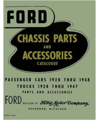1928 1945 1946 1947 1948 Ford Parts Numbers Book List Guide Catalog Interchange front-760125