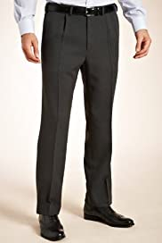 Crease Resistant Single Pleat Donegal Trousers [T18-3803-S]