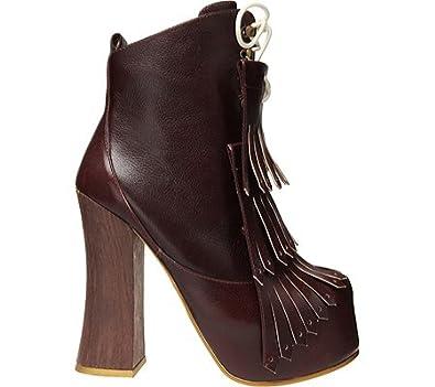 Irregular Choice Women's Carnaby Bond,Red Leather,US 8.5 M