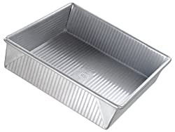 USA Pans 9 in. x 9 in. x 2.25 in. Square Cake Pan, Aluminized Steel with Americoat