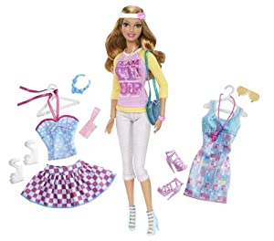 Barbie Doll and Fashion Summer Doll Giftset
