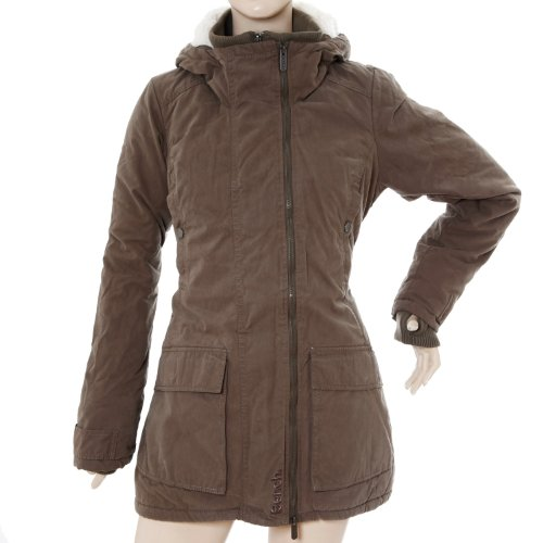 Bench Adventure Womens Hooded Parka - XS, Brown (Bungee Cord)