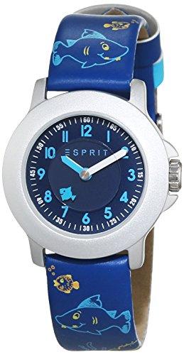 ESPRIT-Reloj unisex Mar Parque ES103454009Esfera Analógica Azul Pantalla y piel de oro