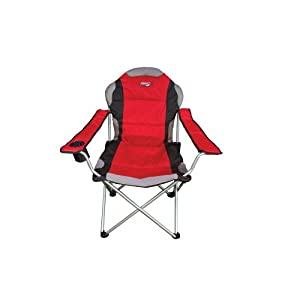 Quest Superlite Folding Chair With Padded Head Rest Red