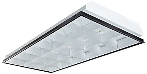 Vaopto Vo-Tf-24L18-3 T8 Led 3-Light, Parabolic Led Troffer, Multi-Volt, Silver, Grid Ceiling 2' X 4', Silver