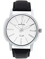 Kansai White Dial Analog Watch- For Men