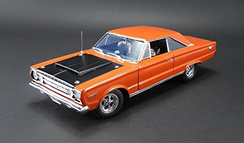 1967 Plymouth GTX HEMI Bullet Orange and Black Limited Edition to 714pcs 1/18 by Acme A1806702 (Hemi Bullet compare prices)