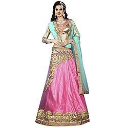 Triveni Net Lehenga Choli (TSSATMN5209_Pink)