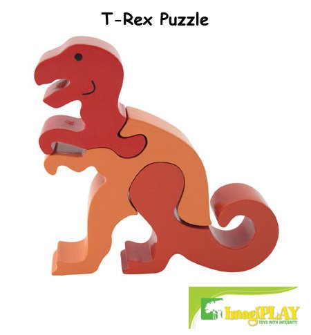 Cheap Fun ImagiPLAY Colorific Earth T-Rex Puzzle (#10301) (B002D3AS0Y)