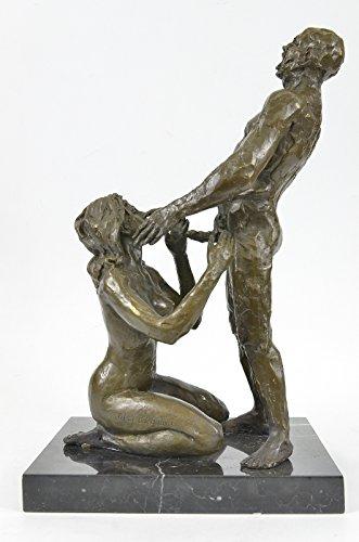 35x23 cm...7 kg...Spedizione Gratuita...Signed 100% Erotic Nude Art Sex On Marble Base (XNCH-559-UK) statua scultura statue in bronzo figurine figurine nude sculture arredamento da collezione primo vendita affare regali