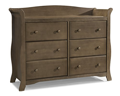 Best Prices! Stork Craft Avalon 6 Drawer Universal Dresser, Dove Brown