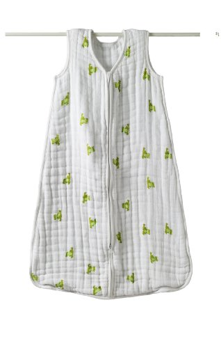 aden + anais Cozy Muslin Sleeping Bag, Mod About Baby, Frog, Small