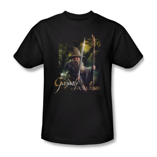 The Hobbit Desolation Of Smaug Gandalf Sword And Staff Adult Mens T-Shirt Tee