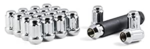 Gorilla Automotive 21123HT Small Diameter Acorn Chrome 5 Lug Kit (12mm x 1.25 Thread Size) - Pack Of 20