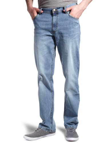 Lee Brooklyn Straight Men's Jeans Bleached Stone 36W x 34L