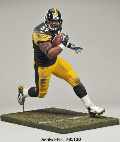 Willie Parker Pittsburgh Steelers White Wrist Tape McFarlane NFL Action Figure