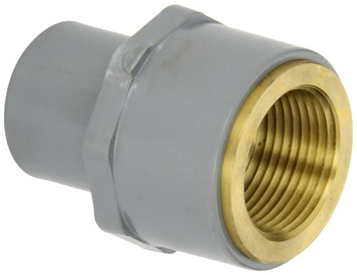 Gf piping systems cpvc to brass transition pipe fitting
