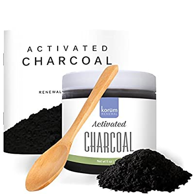 Activated Charcoal Powder (5 oz.) - Detox Cleanse & Facial Mask - Natural Teeth Whitener - Safe, Rejuvenating Skin Care & Blackhead Remover - Made in the USA