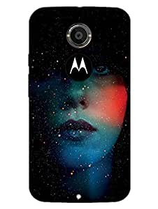Moto X2 Cases & Covers - Girl Behind The Stars - Starry Night - Designer Printed Hard Shell Case