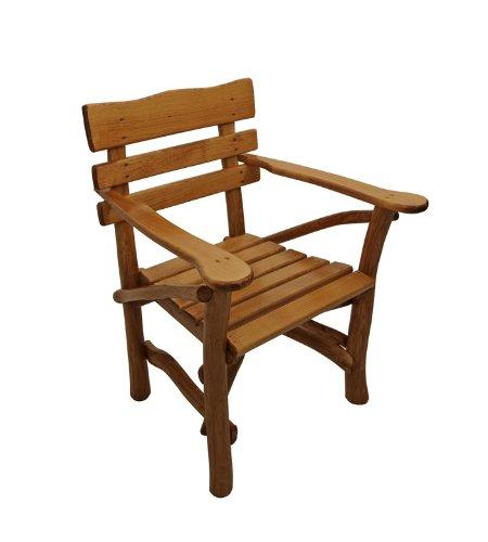 Pfeiffer, Knüppelholz – Sessel MOSEL, Eiche dunkel günstig bestellen
