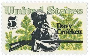 #1330 - 1967 5c Davy Crockett and Scrub U. S. Postage Stamp Plate Block (4)