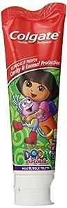 Colgate Dora The Explorer Fluoride Toothpaste, Mild Bubble Fruit Flavor, 4.6 Ounce (Pack of 6)