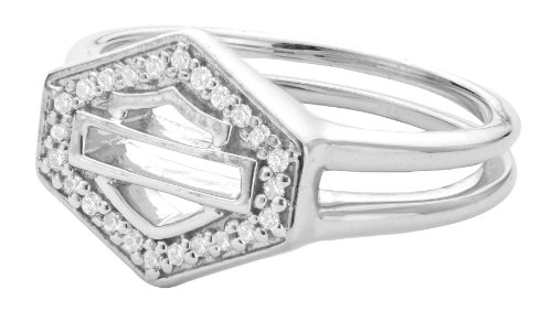 Harley-Davidson® .925 Silver Forever H-D Genuine Diamonds Double Band Ring by Mod Jewelry (8)